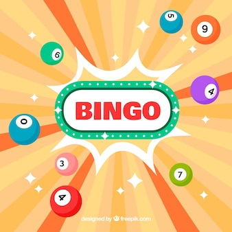 Abstract background of bingo balls