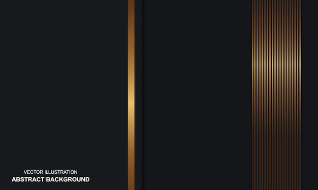 골든 라인 럭셔리와 추상적인 배경 블랙 dop