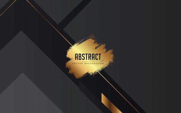Abstract background black, grey and gold color modern