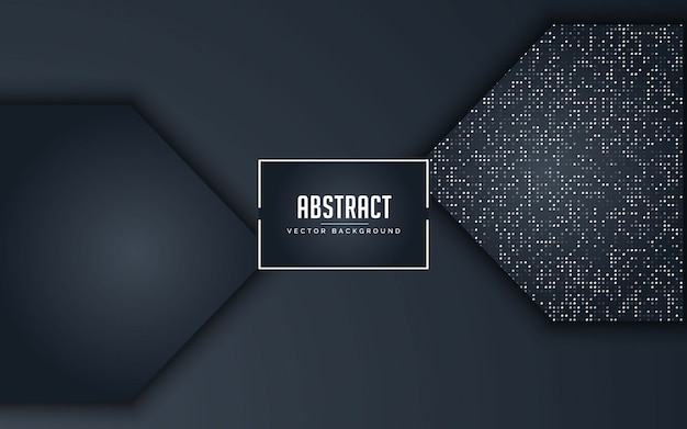Abstract background black and grey with glitters silver
