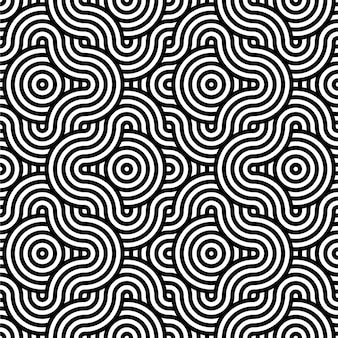 Abstract background in black and white with wavy lines pattern