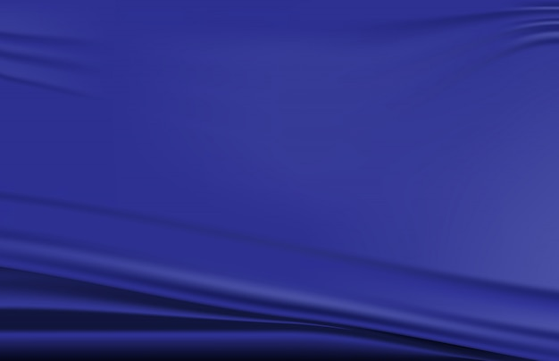 Abstract background of blue folded fabric wave texture