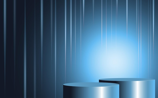 Abstract background blue gradient for insert text, copy space, ad. vector illustration.