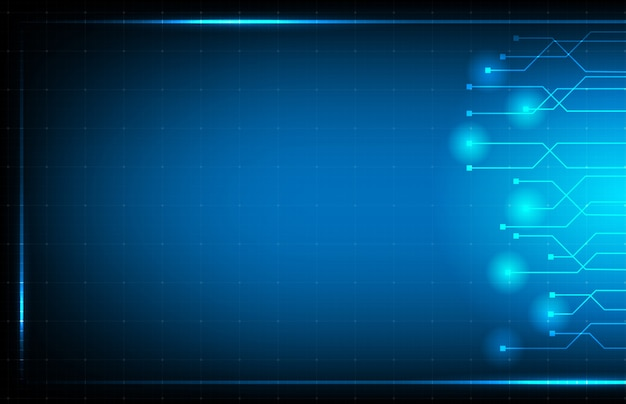 Abstract background of blue hud ui interface technology
