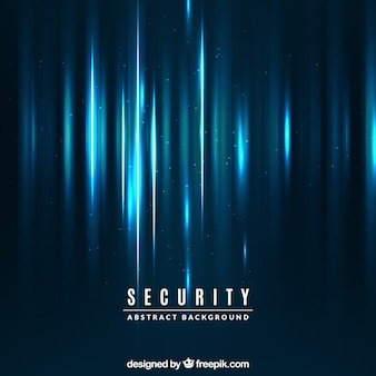 Abstract background of blue lights