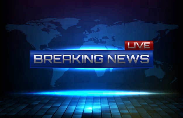 Abstract background breaking news banner