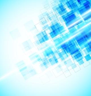 추상적 인 배경. 밝은 파란색 사각형.