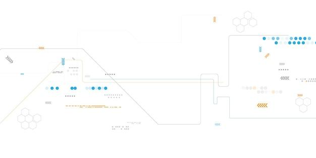 ダイナミックで抽象的な背景ビジネス。技術ネットワークベクトル図。