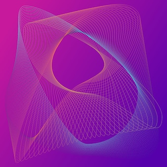 추상적 인 배경입니다. 화려한 요소. 액체 선, 그라디언트. 홀로그램