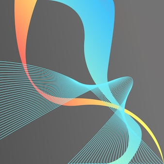 추상적 인 배경입니다. 화려한 요소. 액체 선, 그라디언트. 홀로그램 프리미엄 벡터