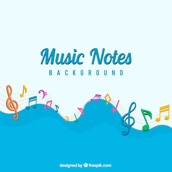 Abstract background of colorful notes