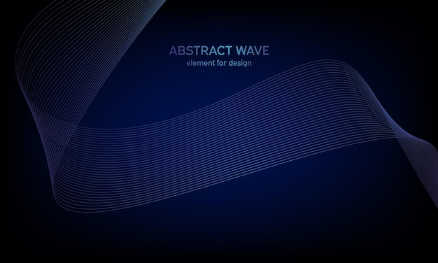 抽象的な背景カラフルな波要素様式化された線