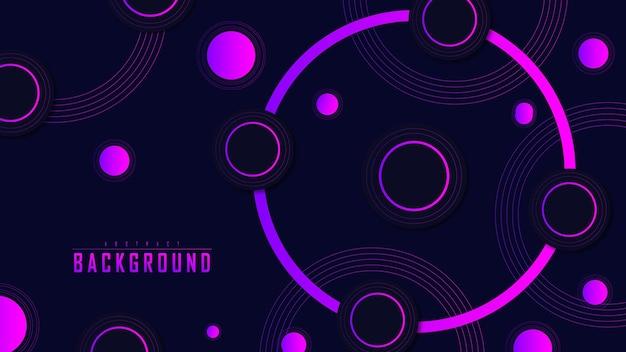Абстрактный фон красочный с линиями и круглыми формами лучший premium векторы