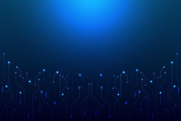 Abstract background concept linear and polygonal pattern shapes on dark blue
