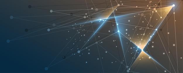イノベーションドットとラインコミュニケーションの概念を結ぶ抽象的な背景