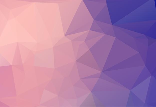 ピンクの三角形から成る抽象的な背景。 Premiumベクター
