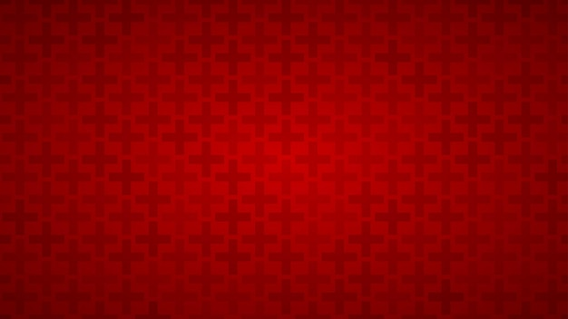 Abstract background of crosses in shades of red colors