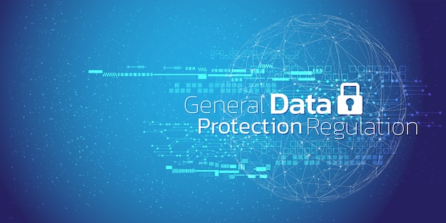 Abstract background of cyber security and information or network protection.