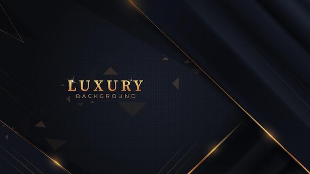 Абстрактный фон темный и золотой роскошный современный дизайн premium векторы