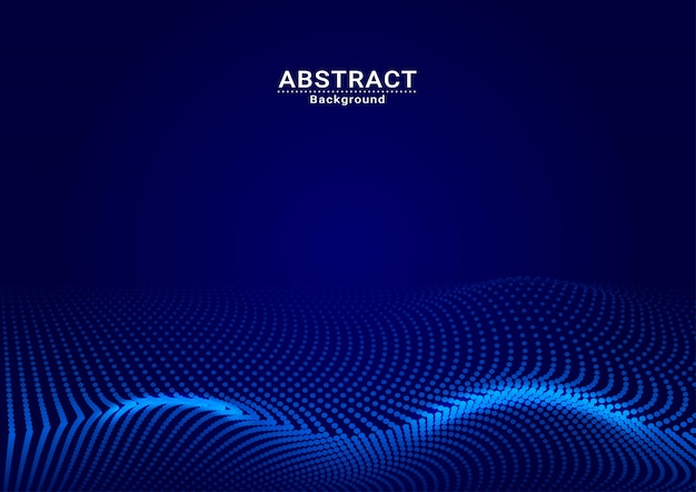 Abstract background dark blue dot full vector