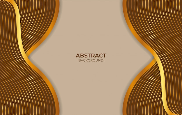 Abstract background design brown and gold