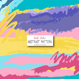 Abstract background design. Colorful brush strokes pattern