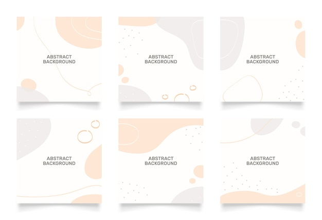 Абстрактный фон для публикации в социальных сетях. каракули формы рисованной.
