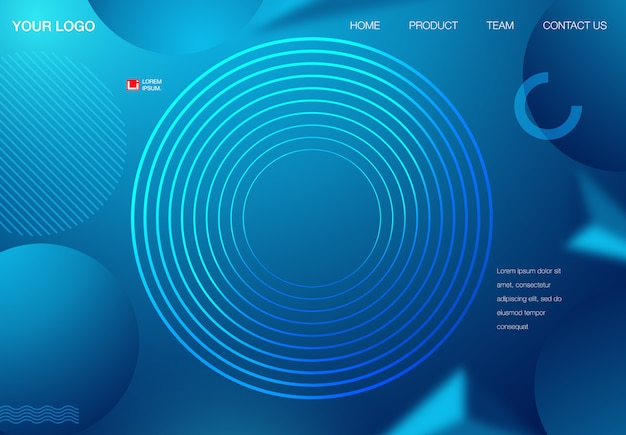 Abstract background design. landing page template