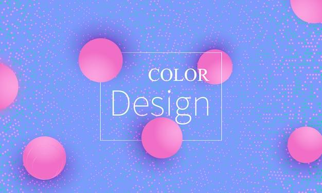 추상적 인 배경 디자인입니다. 분홍색 공.