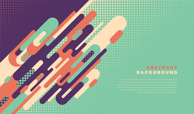 Abstract background design in retro style with rounded geometric shapes.