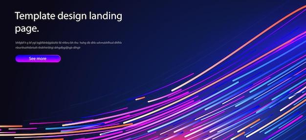 추상적 인 배경 디자인 포스터에 대한 관점 기술 과학 미래 스타일의 물결 선