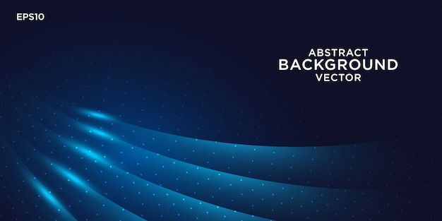 Abstract background design with blue light effects