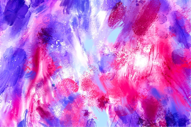 Abstract background design with colorful brush strokes