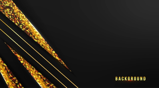 Abstract background design with gold stripe