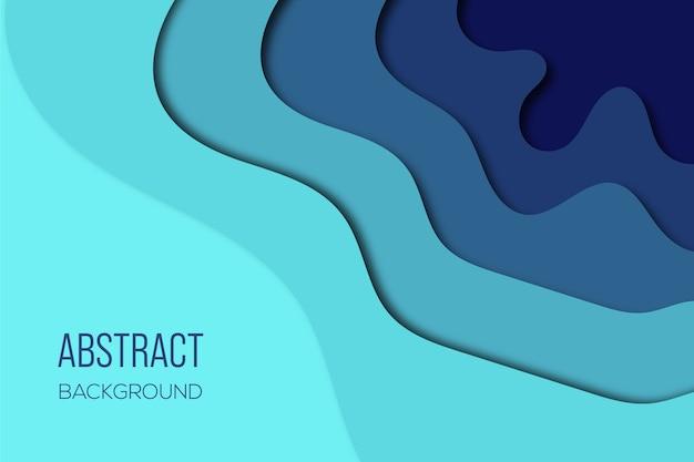 グラデーションブルーの抽象的な背景デザイン