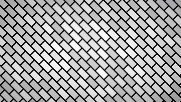 Abstract background of diagonally arranged rectangles in gray colors