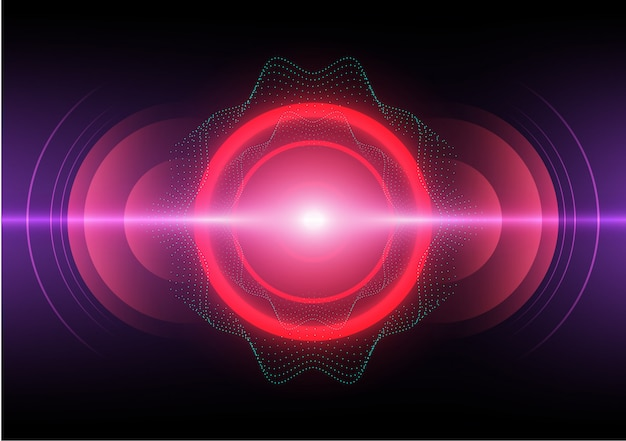 Abstract background digital sound wave