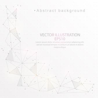 抽象的な背景は、低ポリ三角形ワイヤーフレームをデジタルで描いた。