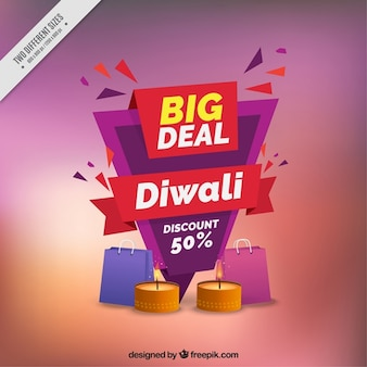 Abstract background of diwali sale