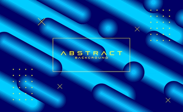 Abstract background dynamic blue design Premium Vector