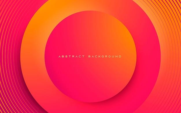 Абстрактный фон динамический круг формы слоя