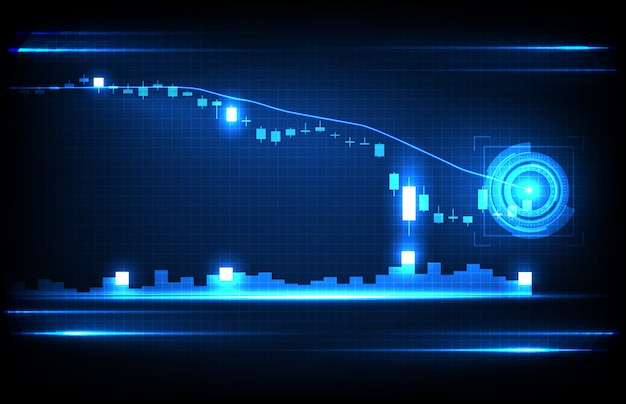 Abstract background of economy crisis down stock market graph