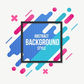Abstract background flat style colorful