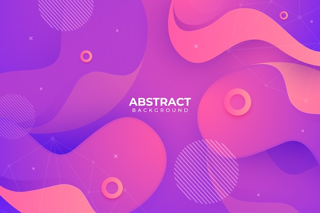 Abstract background in fluid style