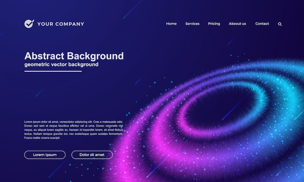 ランディングページやウェブサイトのデザインのための抽象的な背景。