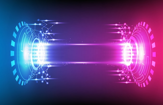 Abstract background of futuristic hud gui display panel with light