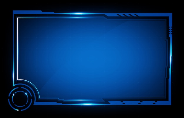 Abstract background of futuristic hud ui technology sci fi