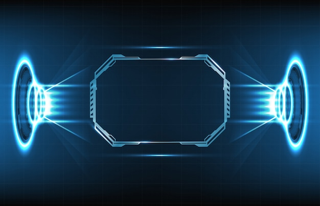 Abstract background of futuristic sci-fi hud display