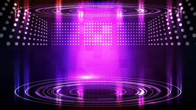 Abstract background of futuristic technology hud display