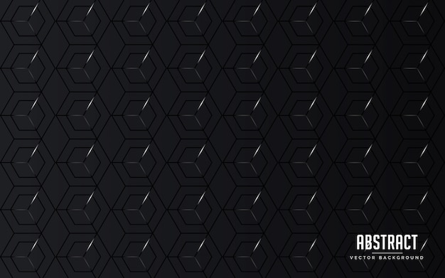 Abstract background geometric black color and grey color modern